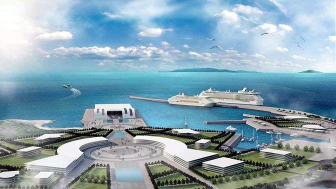 Antalya'ya akvaryumlu kruvaziyer limanı