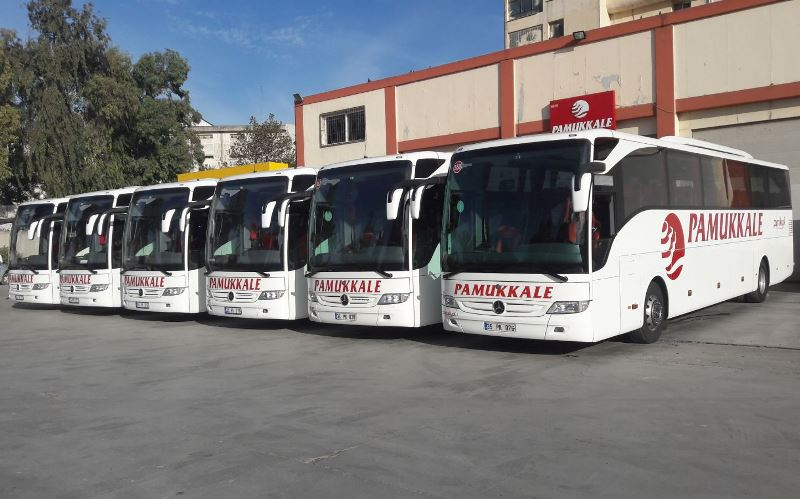Pamukkale, 9 Mercedes Tourismo otobüs aldı