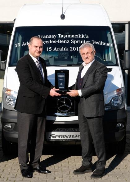 Transay Taşımacılık'a 30 adet Sprinter teslimatı