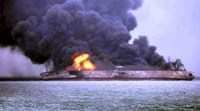 Çin'de petrol tankeriyle yük gemisi çarpıştı