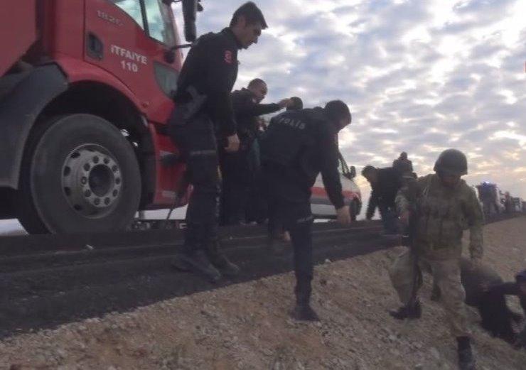 Silopi'de feci otobüs kazası