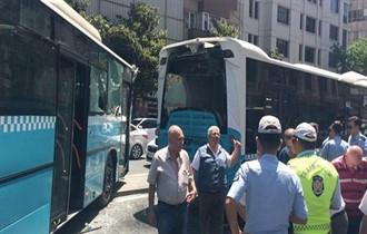 Şişli'de 3 özel halk otobüsü çarpıştı!