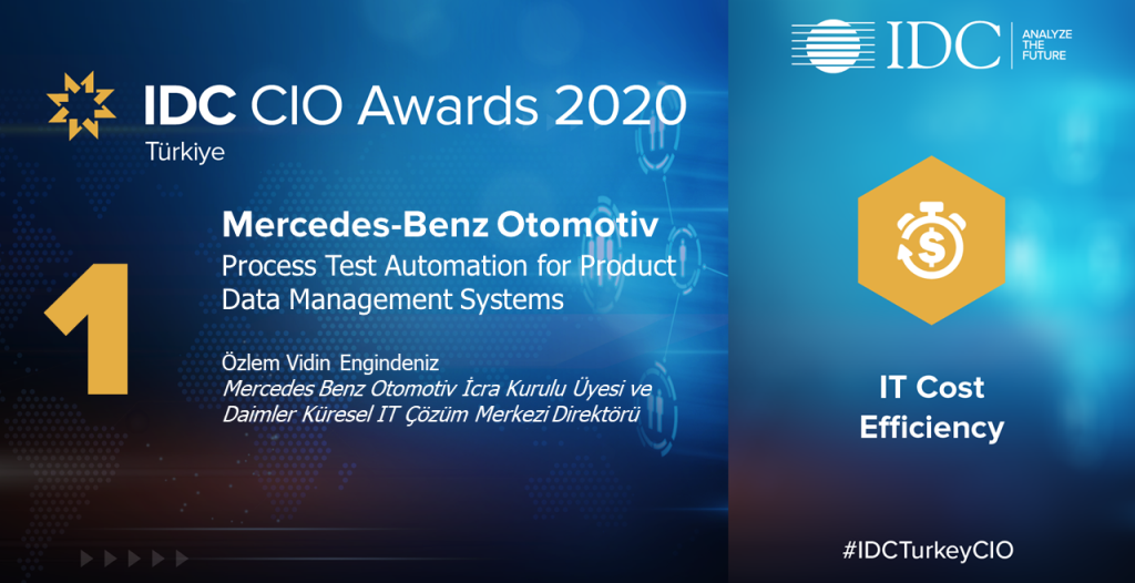 IDC CIO'dan Mercedes-Benz'e birincilik ödülü