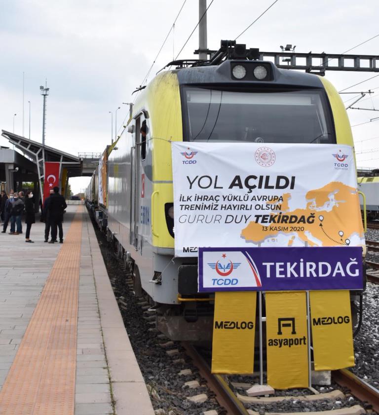 Medlog'un, Avrupa'ya ilk treni Tekirdağ'dan start aldı