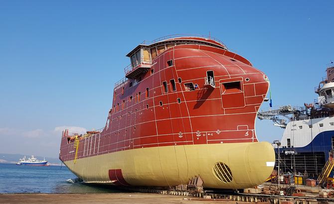 Cemre Tersanesi, Esvagt-3 gemisini suyla buluşturdu