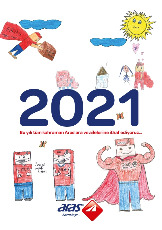 """Aras Kargo """"kahramanlarını"""" 2021 takvimine taşıdı"""