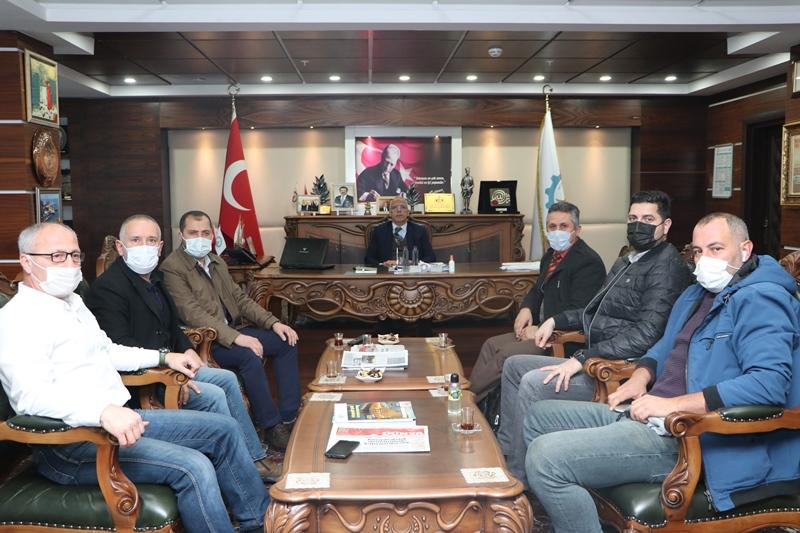 DAF Karadeniz bölge müdürü Hopa TSO'daydı