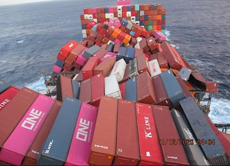 MAERSK gemisi Pasifik'te 750 konteyner kaybetti