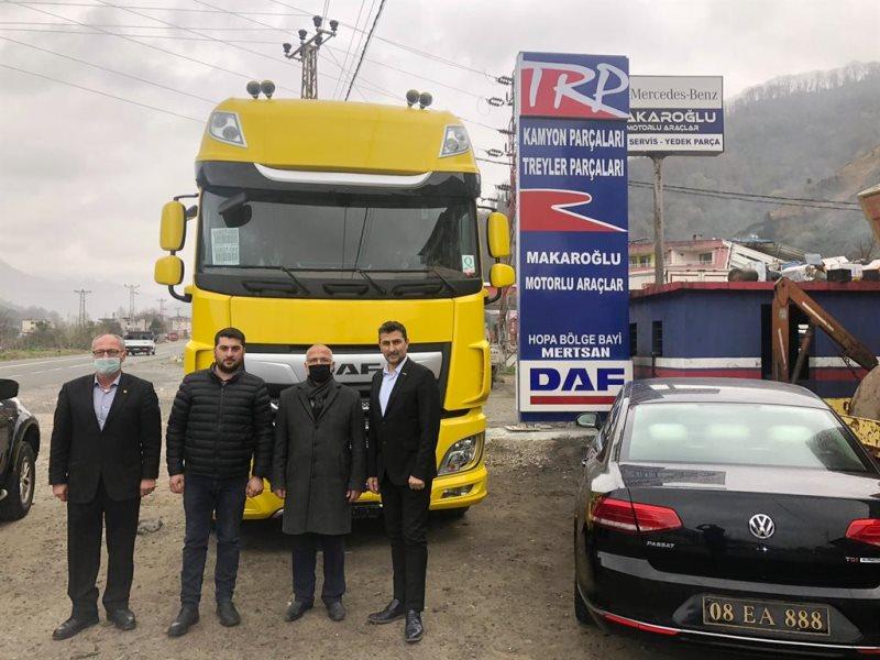 Hopa'da DAF araç bayisi hizmete girdi
