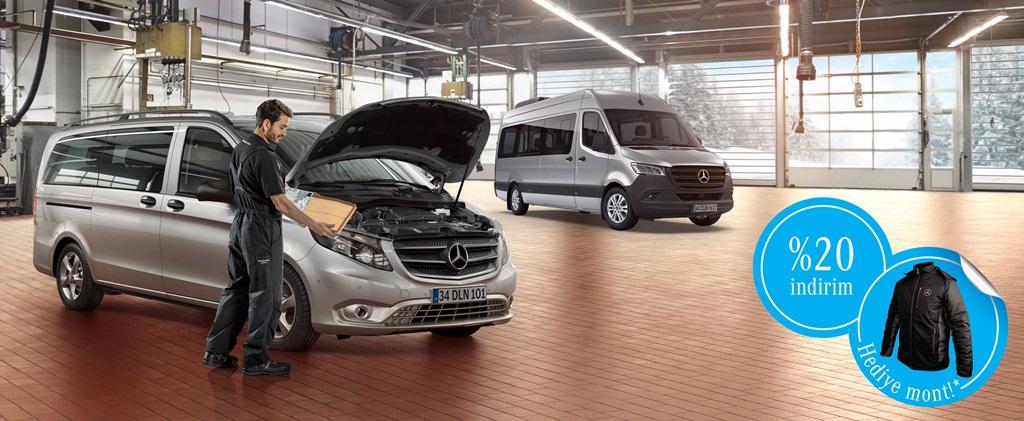 Mercedes yetkili servislerine gelene özel kışlık mont