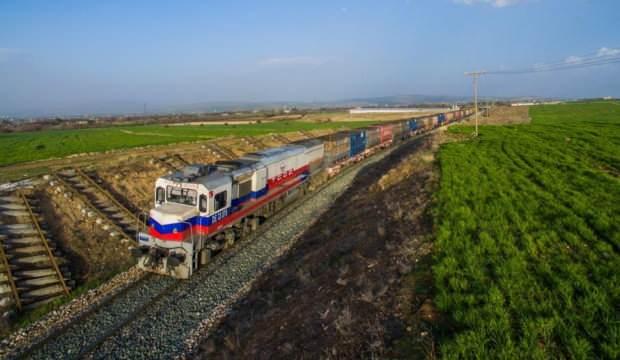 İlk blok ihracat treni Moskova'ya vardı