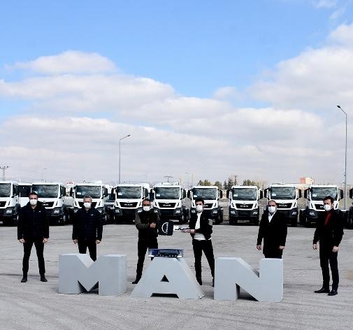 Ekpet İnşaat, filosunu 20 MAN kamyon ile güçlendirdi