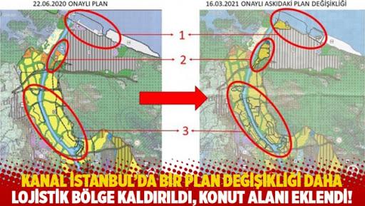 Lojistik bölge, Kanal İstanbul'a kurban edildi