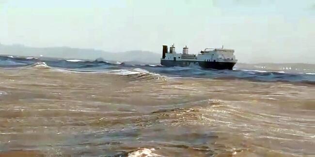Hacizli Ro-Ro gemisi, Hatay'da karaya oturdu