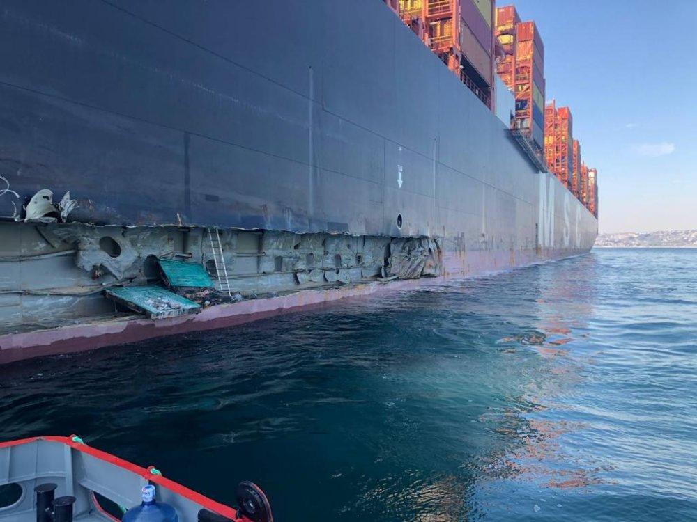 """""""En büyük gemi"""" Ambarlı'da iskeleye bindirdi"""