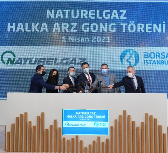 Borsa İstanbul'da gong Naturelgaz için çaldı