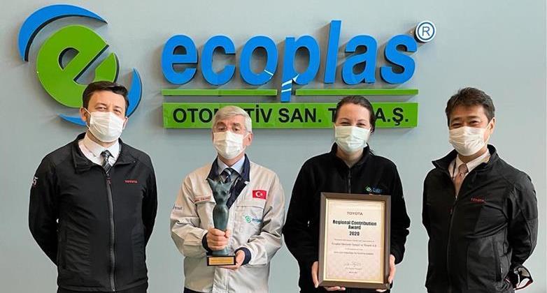 Toyota'dan Ecoplas'a Avrupa Bölgesel Katkı Ödülü