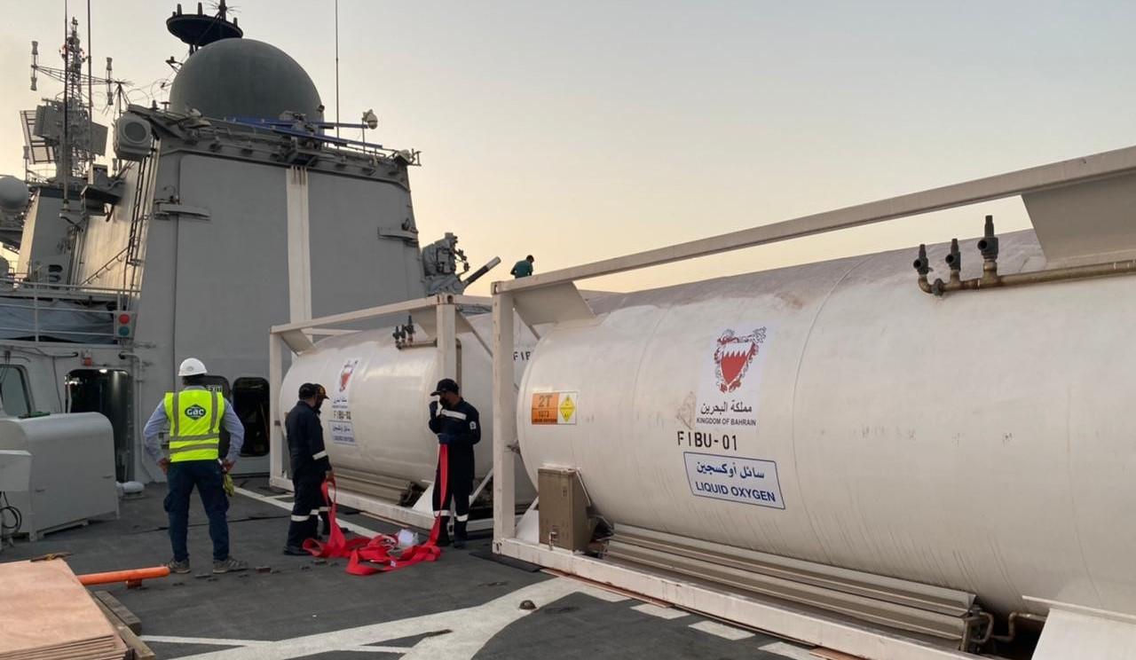 COVID-19 tedavisinin oksijen ihtiyacına donanma desteği