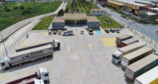 Çerkezköy OSB TIR parkı faaliyete geçti
