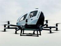 İşte yolcu taşıyabilen 4 pervaneli drone!