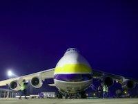 Dünyanın en büyük ikinci kargo uçağı Bursa'ya indi