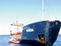 Türk gemisi batarken kurtarıldı