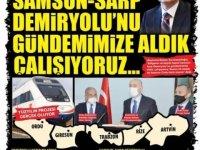 Samsun-Ordu demiryolu Sarp'a kadar uzatılacak