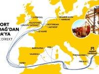 ASYAPORT'tan Avrupa'ya 5 direkt servis