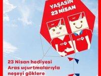 Aras Kargo 23 Nisan coşkusunu gökyüzüne taşıyor